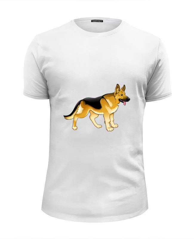 Футболка Wearcraft Premium Slim Fit Printio Овчарка футболка wearcraft premium slim fit printio овчарка