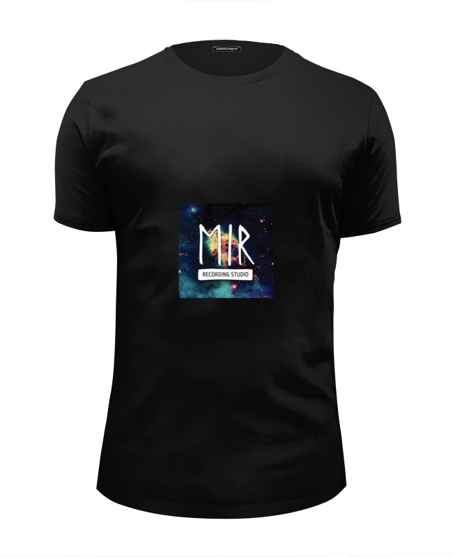 Футболка Wearcraft Premium Slim Fit Printio Mir black t-shirt шапка запорожец mir drujba black