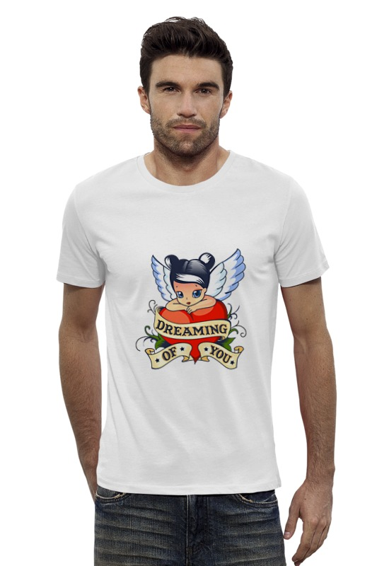 Футболка Wearcraft Premium Slim Fit Printio Мечтаю о тебе футболка wearcraft premium slim fit printio я покажу тебе мир