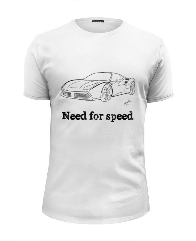 Футболка Wearcraft Premium Slim Fit Printio Need for speed