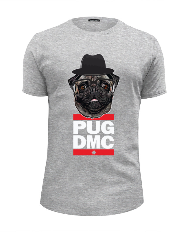 Футболка Wearcraft Premium Slim Fit Printio Pug x run dmc