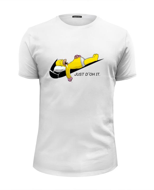 Футболка Wearcraft Premium Slim Fit Printio Гомер симпсон (just d'oh it) fit it 55148