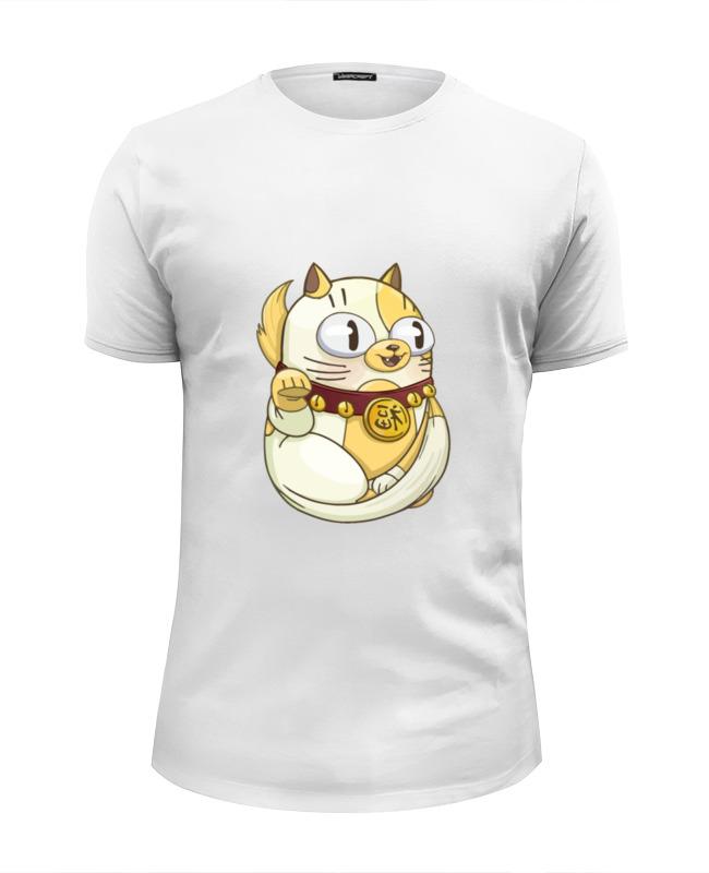 Футболка Wearcraft Premium Slim Fit Printio Милый котик футболка wearcraft premium printio рыжий котик don t panic be cool it s idea shop