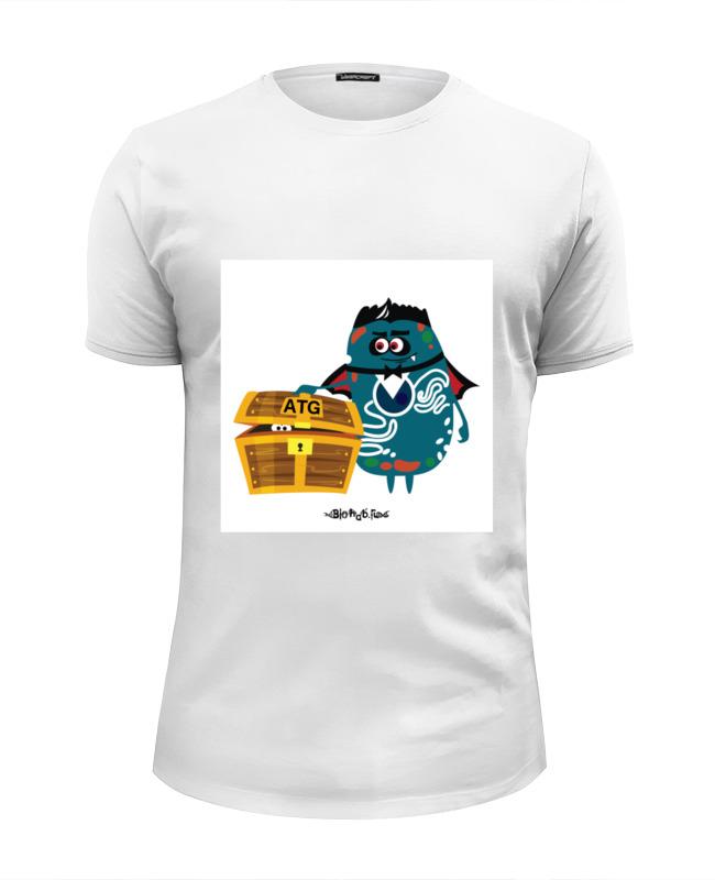 Футболка Wearcraft Premium Slim Fit Printio Atg гены футболка без баб как у гены букина