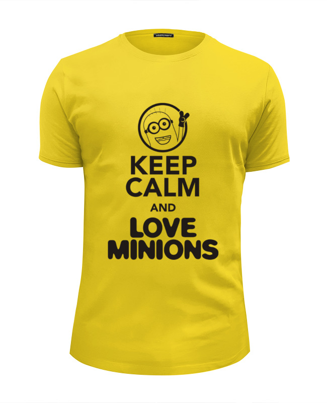 Футболка Wearcraft Premium Slim Fit Printio Keep calm & love minions футболка wearcraft premium slim fit printio i love ny