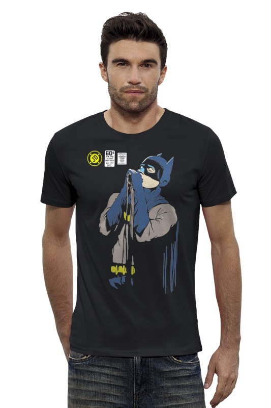 Футболка Wearcraft Premium Slim Fit Printio Бэтмен иэн кёртис толстовка wearcraft premium унисекс printio joy division