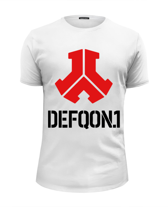 где купить Футболка Wearcraft Premium Slim Fit Printio Defqon 1 maximum force minimal дешево