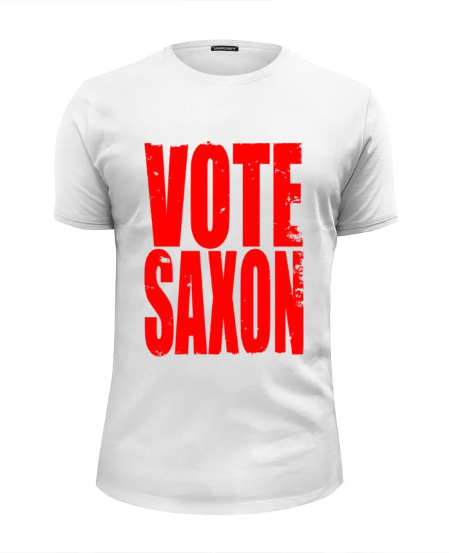 Футболка Wearcraft Premium Slim Fit Printio Vote saxon (doctor who) saxon münchen