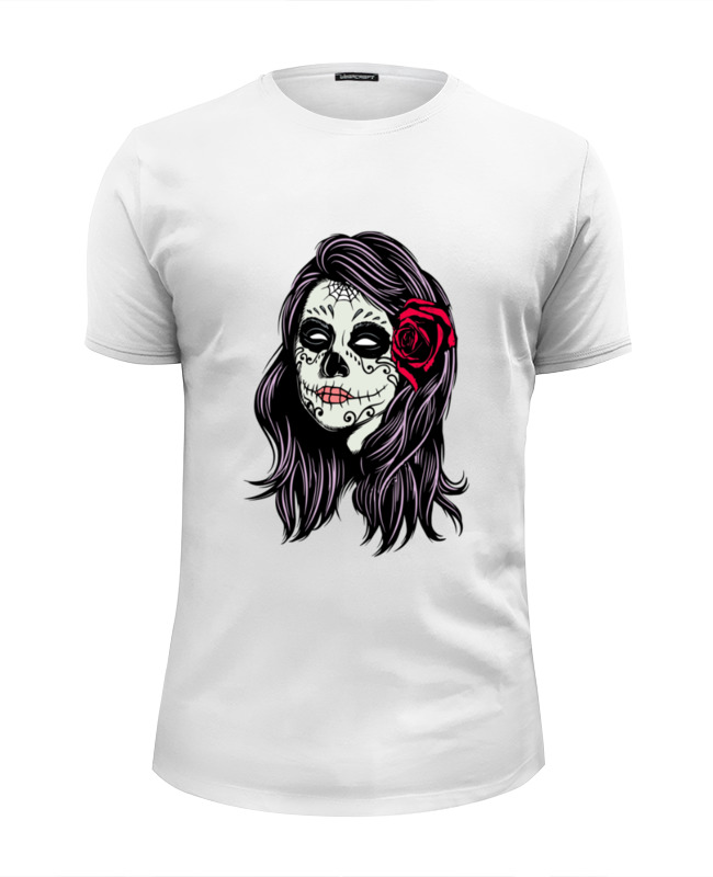 Футболка Wearcraft Premium Slim Fit Printio Skull girls футболка wearcraft premium slim fit printio low poly skull