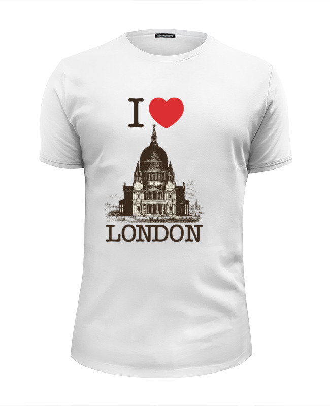 Футболка Wearcraft Premium Slim Fit Printio I love london футболка wearcraft premium slim fit printio i love ny