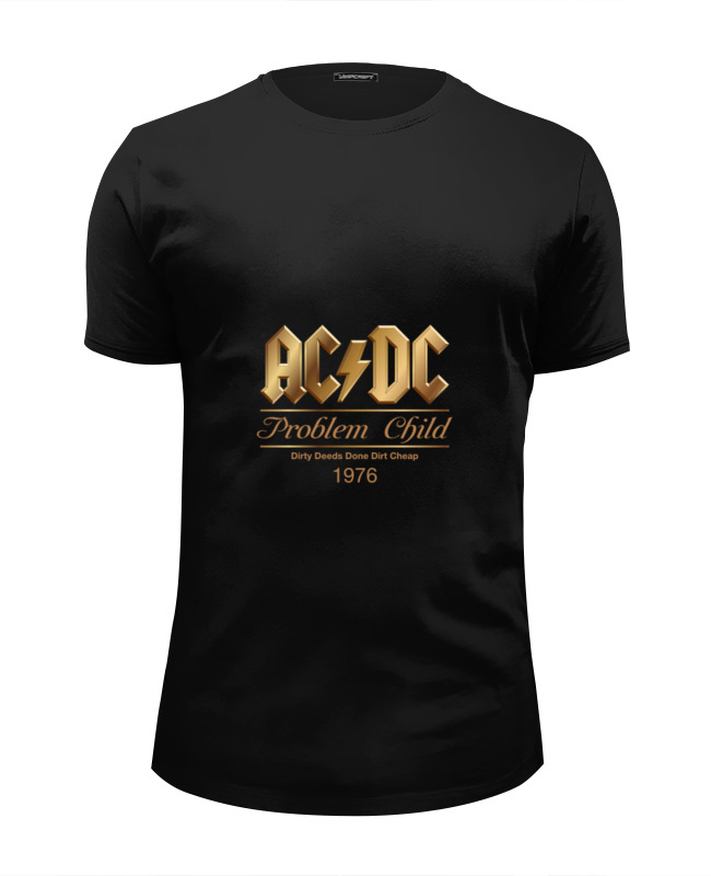 Футболка Wearcraft Premium Slim Fit Printio Ac/dc ac dc dirty deeds done dirt cheap ltd edition 24kt gold lp record