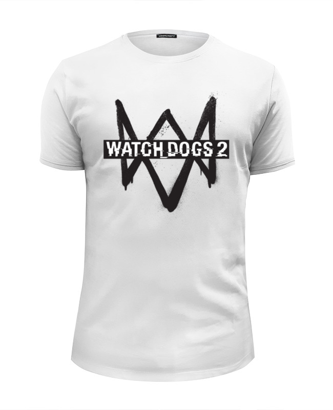 Футболка Wearcraft Premium Slim Fit Printio Watch dogs 2 sleeping dogs