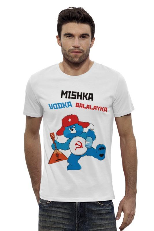 Футболка Wearcraft Premium Slim Fit Printio Мишка водка балалайка футболка wearcraft premium slim fit printio мишка me to you