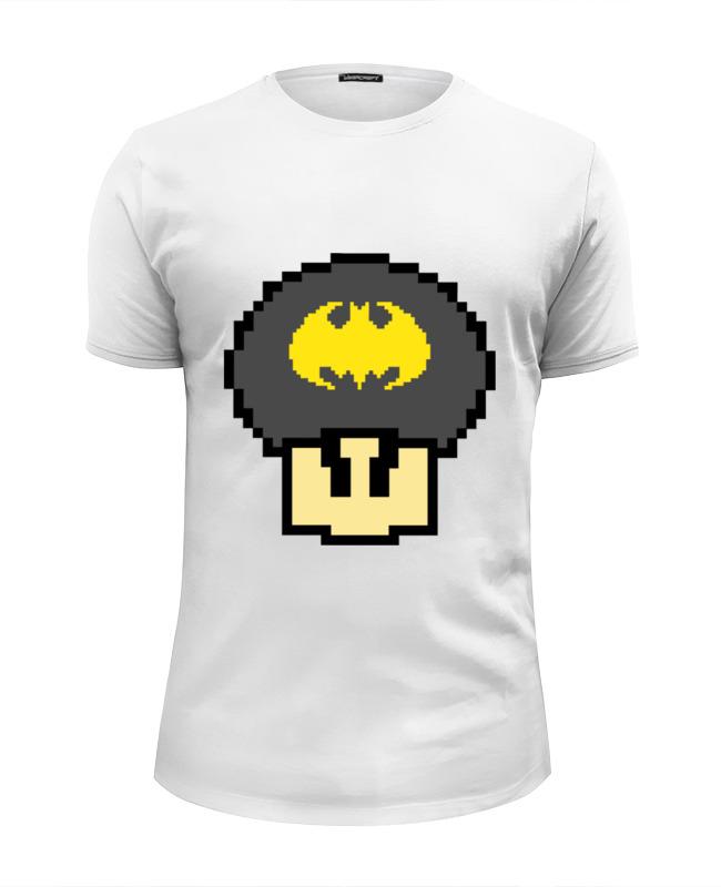 Футболка Wearcraft Premium Slim Fit Printio Гриб марио (бэтмен) футболка wearcraft premium slim fit printio гриб из марио