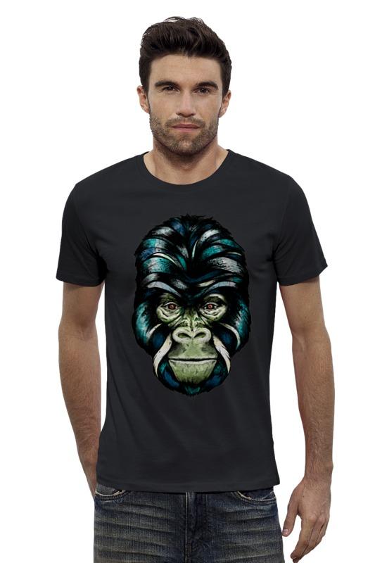 Футболка Wearcraft Premium Slim Fit Printio Горилла футболка wearcraft premium slim fit printio шахматиста