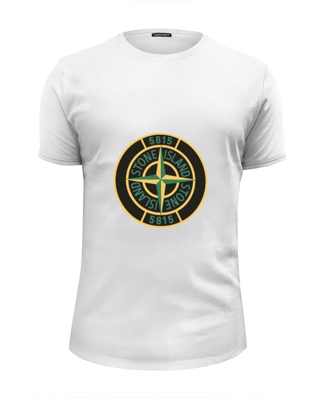 Футболка Wearcraft Premium Slim Fit Printio Stone island цена