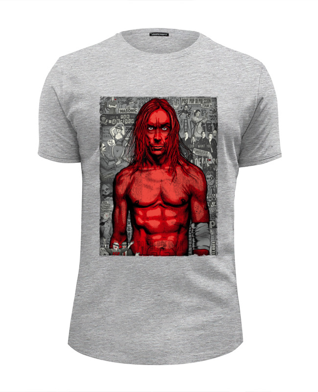 Футболка Wearcraft Premium Slim Fit Printio Iggy pop майка классическая printio iggy pop