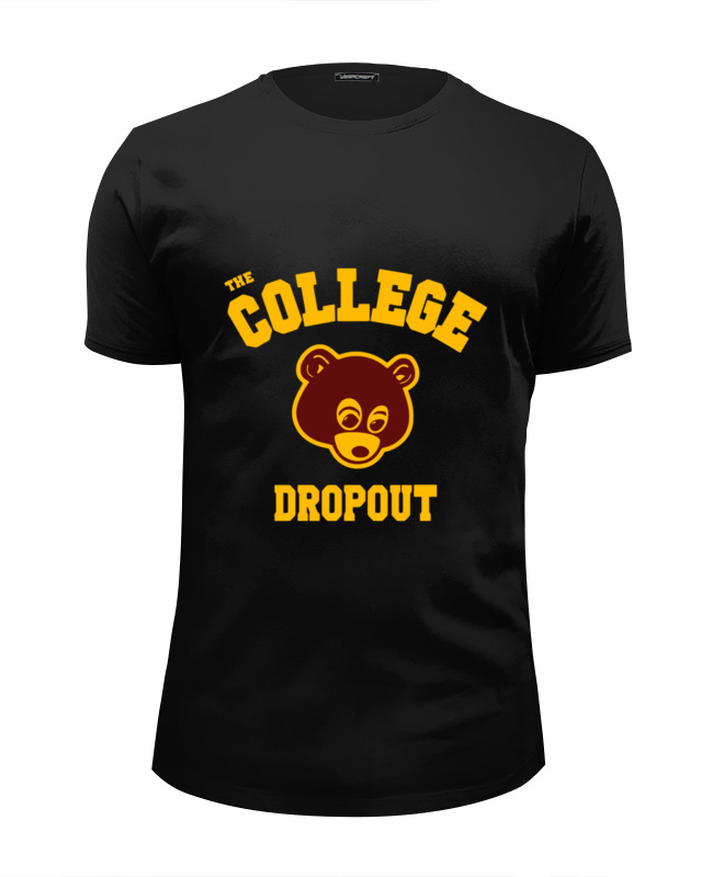 Футболка Wearcraft Premium Slim Fit Printio The college dropout the causal factors of dropout among the socio economically backward