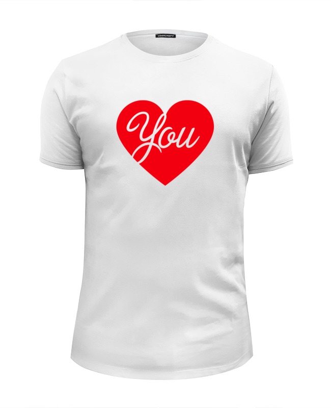 Футболка Wearcraft Premium Slim Fit Printio I love you футболка wearcraft premium slim fit printio i love navalny