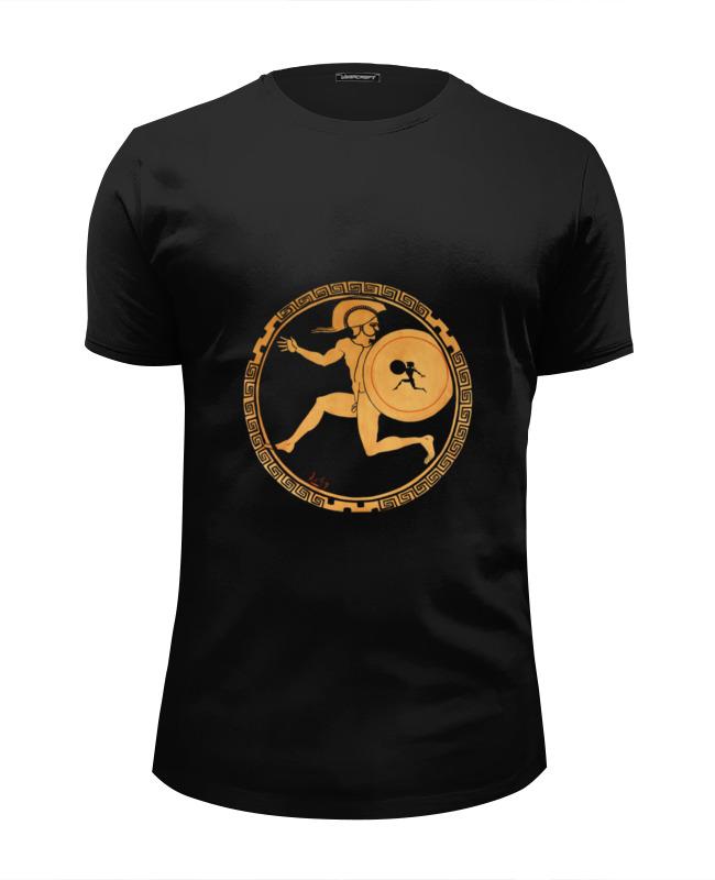 Футболка Wearcraft Premium Slim Fit Printio Ancient greek man with shield футболка wearcraft premium slim fit printio spider man