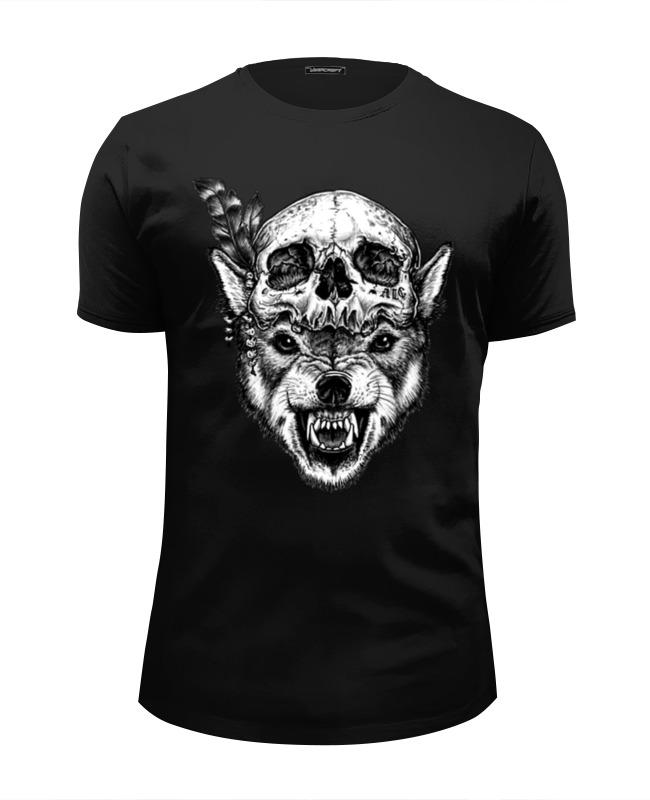 Футболка Wearcraft Premium Slim Fit Printio Wolf & skull футболка wearcraft premium slim fit printio low poly skull