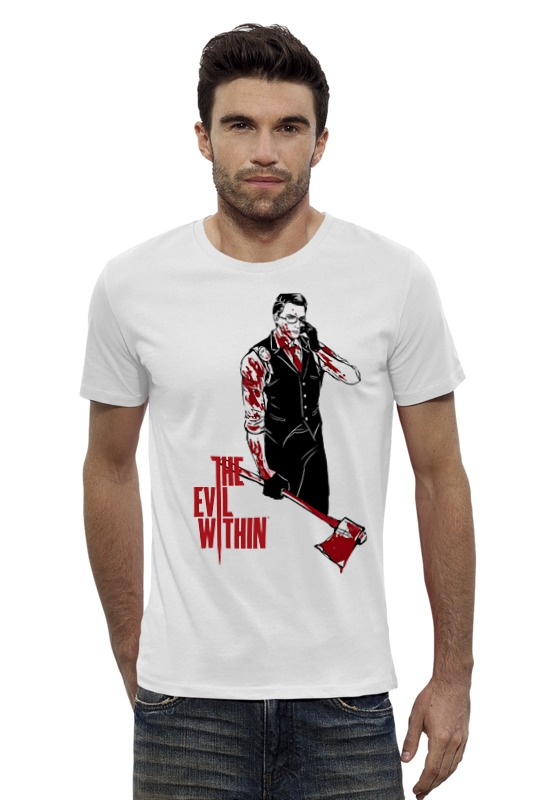 Футболка Wearcraft Premium Slim Fit Printio The evil within
