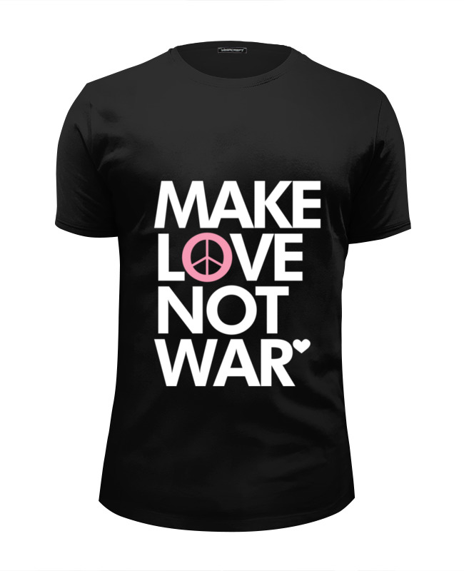 Футболка Wearcraft Premium Slim Fit Printio Make love not war футболка wearcraft premium slim fit printio make em jingle