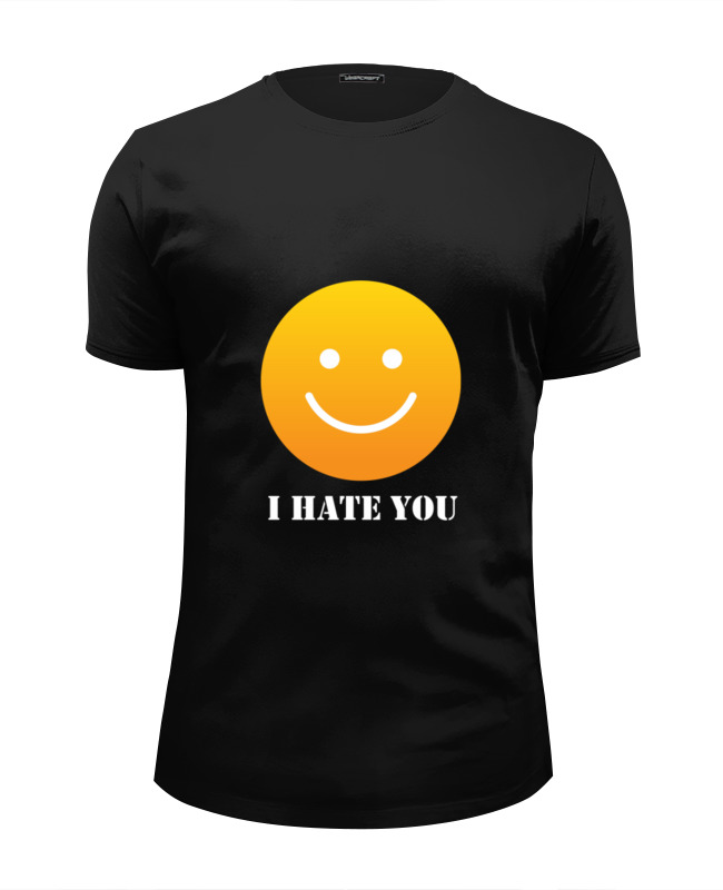 Фото - Футболка Wearcraft Premium Slim Fit Printio I hate you футболка wearcraft premium printio i hate my boss