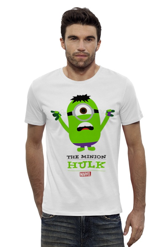 Футболка Wearcraft Premium Slim Fit Printio The minion hulk футболка для беременных printio the minion hulk