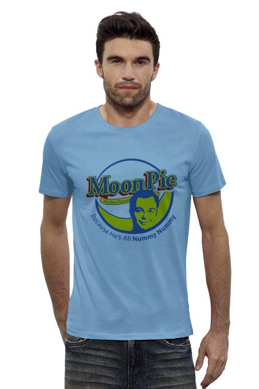 Футболка Wearcraft Premium Slim Fit Printio Шелдон купер (moon pie) футболка стрэйч printio шелдон купер moon pie