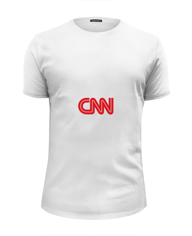 Футболка Wearcraft Premium Slim Fit Printio Cnn (cable news network) цена