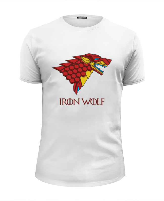 Футболка Wearcraft Premium Slim Fit Printio Iron wolf (stark x iron man) лонгслив printio iron wolf stark x iron man