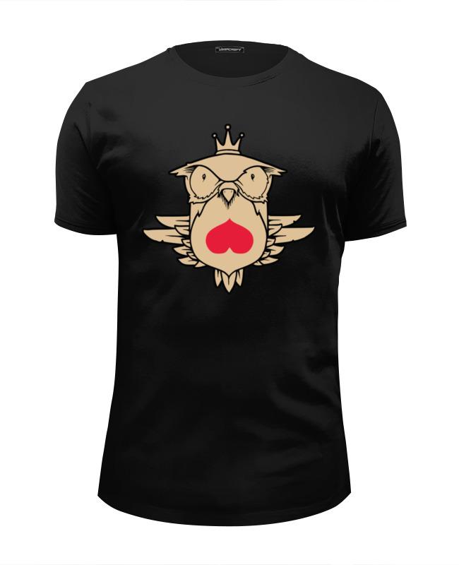 Футболка Wearcraft Premium Slim Fit Printio Owl heart / сова и сердце футболка wearcraft premium printio геометрическая сова