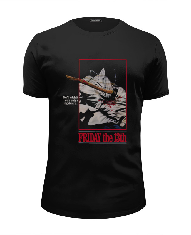 Футболка Wearcraft Premium Slim Fit Printio Friday the 13th футболка wearcraft premium slim fit printio friday the 13th i love ny
