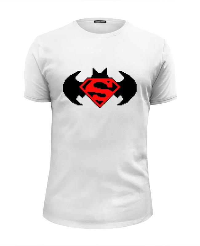 Printio Бэтмен и супермен (8-бит) футболка wearcraft premium slim fit printio бэтмен и супермен