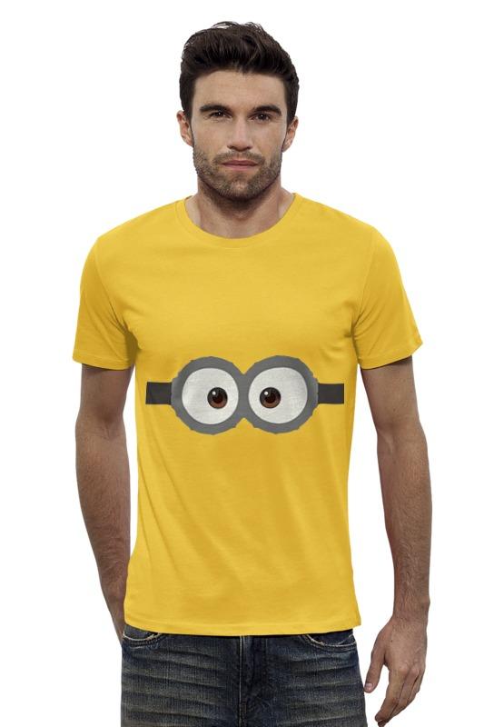 Футболка Wearcraft Premium Slim Fit Printio Глаза миньона серая футболка для мальчика миньона 38