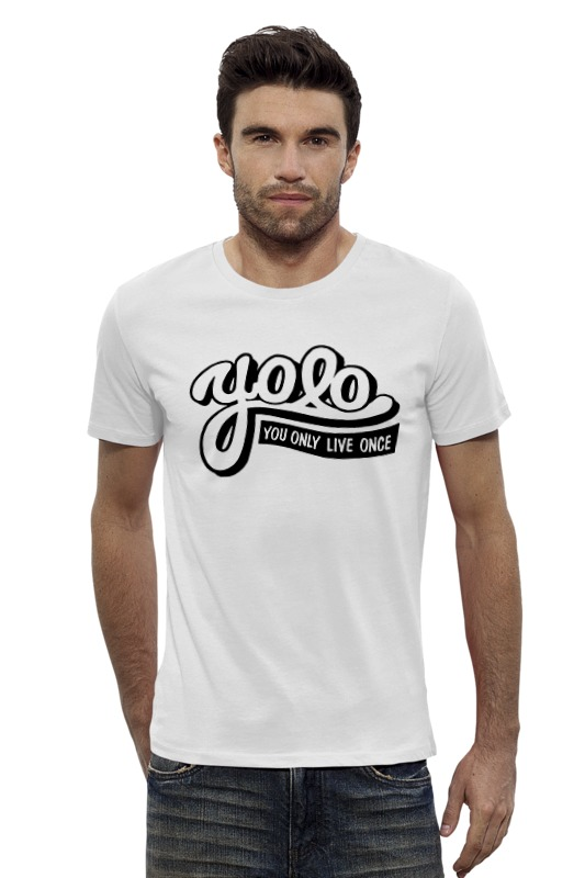 Футболка Wearcraft Premium Slim Fit Printio Yolo (you only live once) you only live twice