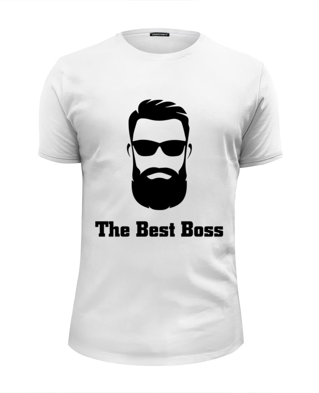 Printio The best boss with beard футболка wearcraft premium printio the beauty and the best
