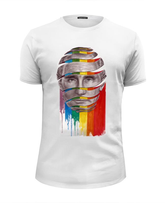 Футболка Wearcraft Premium Slim Fit Printio Путин с лгбт футболка лгбт