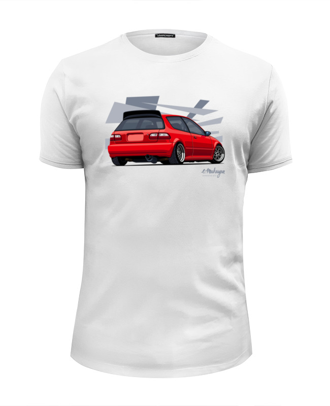 Футболка Wearcraft Premium Slim Fit Printio Honda civic