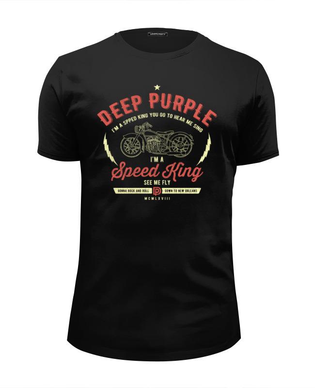 Футболка Wearcraft Premium Slim Fit Printio Deep purple whisky premium deep blue 90 мл parfums evaflor whisky premium deep blue 90 мл