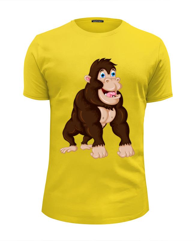 Футболка Wearcraft Premium Slim Fit Printio Обезьяна футболка wearcraft premium slim fit printio обезьяна символ нового 2016 года
