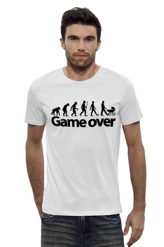 Футболка Wearcraft Premium Slim Fit Printio Game over (игра окончена) футболка wearcraft premium printio игра престолов