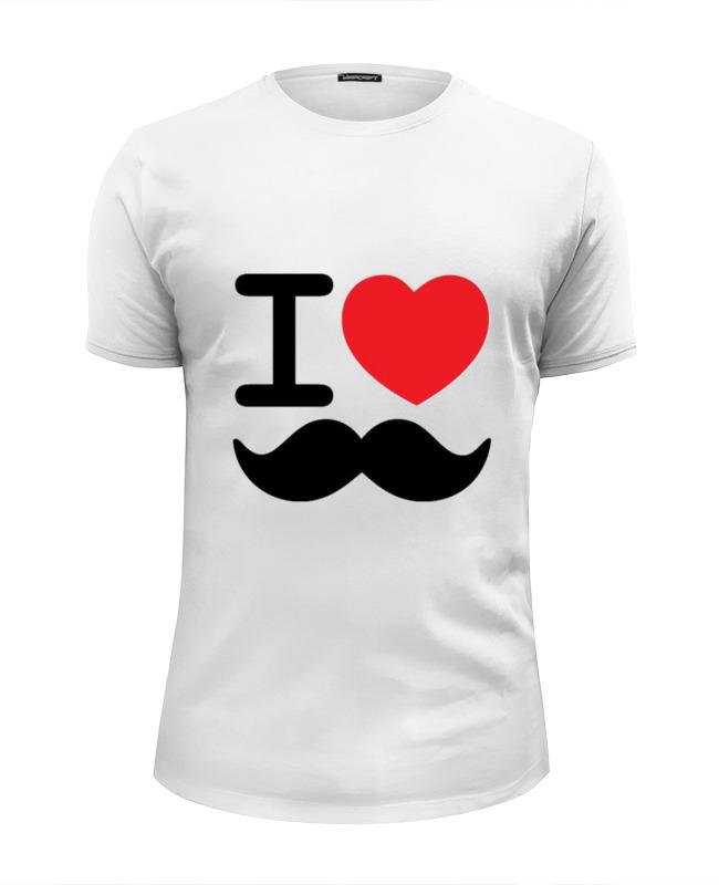 Футболка Wearcraft Premium Slim Fit Printio I love усы футболка wearcraft premium slim fit printio i love ny