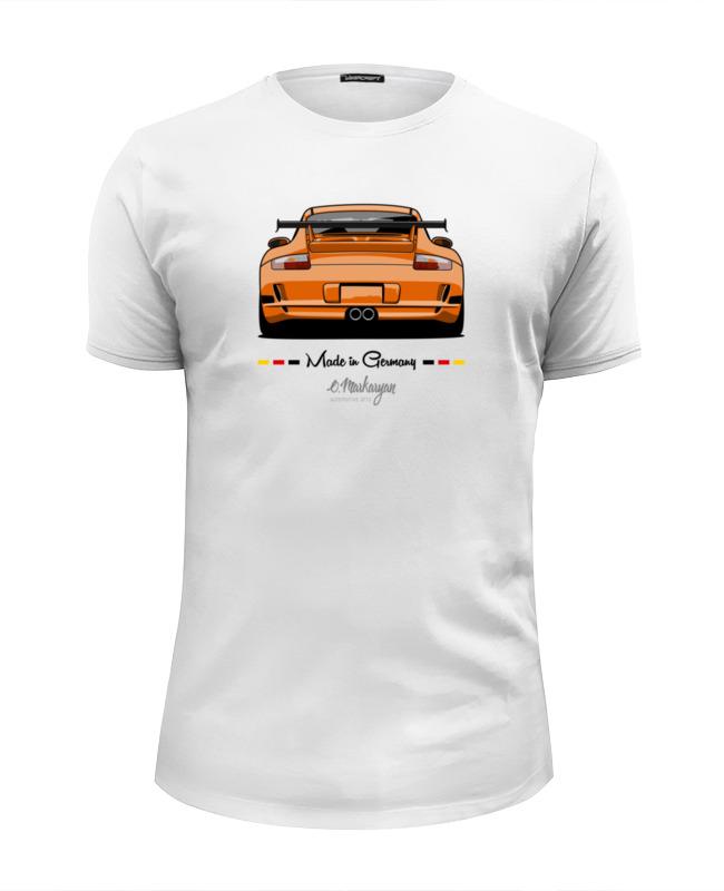 Футболка Wearcraft Premium Slim Fit Printio Porsche gt3 rs