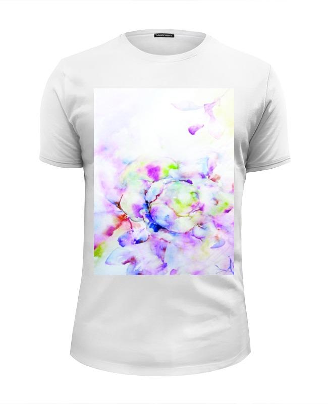Футболка Wearcraft Premium Slim Fit Printio Распускающаяся роза футболка с полной запечаткой мужская printio распускающаяся роза