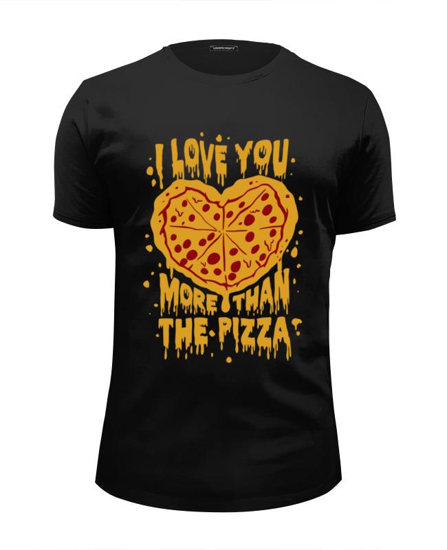 Футболка Wearcraft Premium Slim Fit Printio Люблю тебя больше пиццы футболка wearcraft premium slim fit printio люблю науку