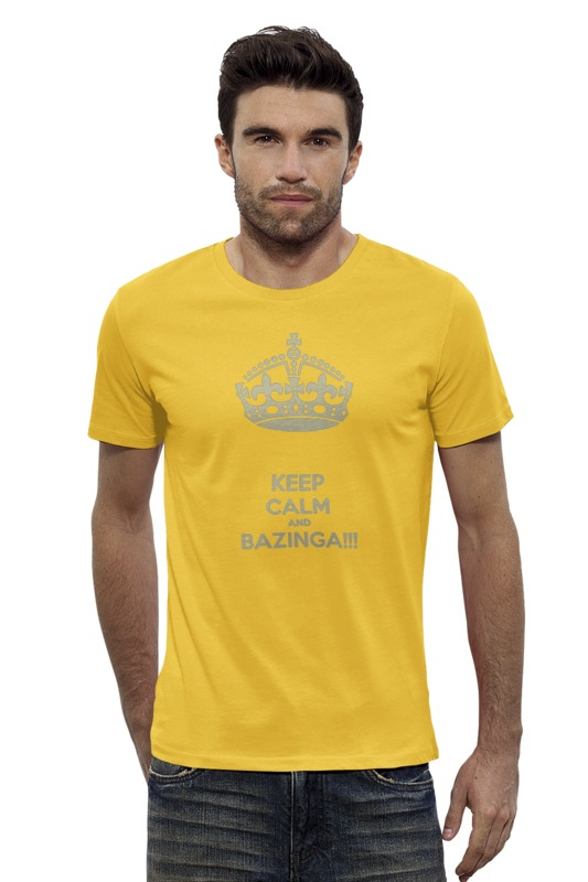Футболка Wearcraft Premium Slim Fit Printio Keep calm and bazinga футболка wearcraft premium printio keep calm