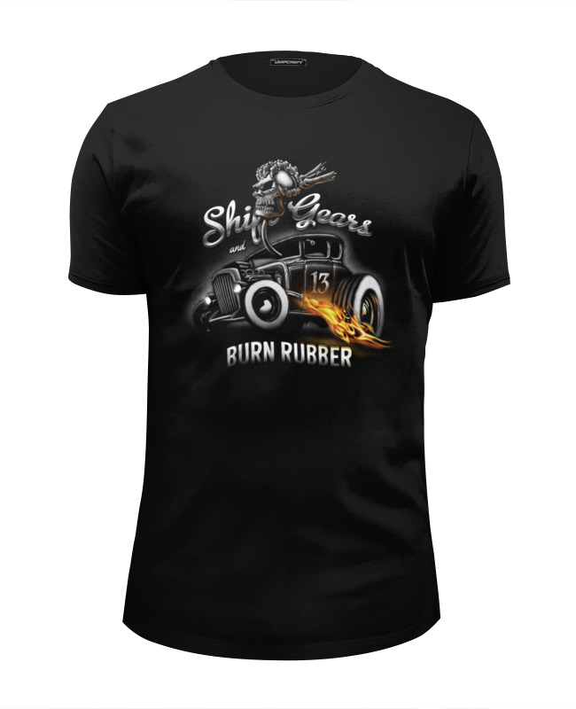 Футболка Wearcraft Premium Slim Fit Printio Shift gears and burn rubber футболка классическая printio shift gears and burn rubber