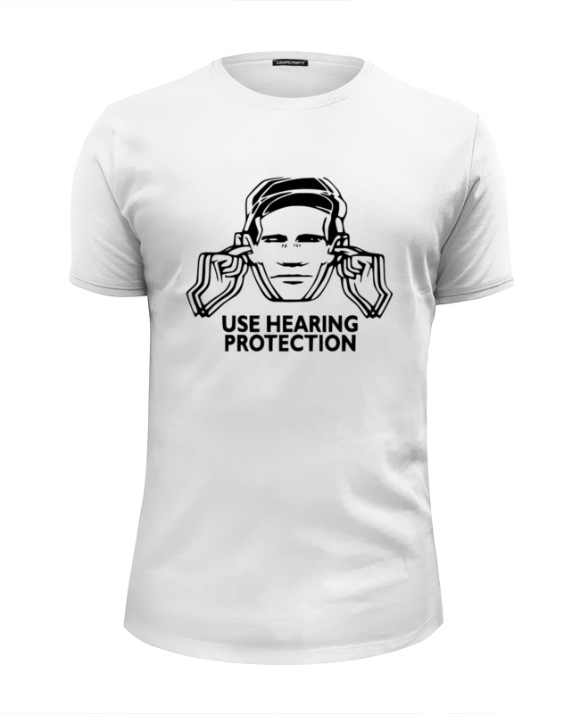 Футболка Wearcraft Premium Slim Fit Printio Заткни уши (use hearing protection) lg mh 6044v
